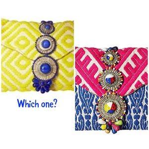SM  Boho Brocade Envelope Clutch, NWT